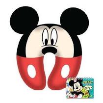 Mickey Mouse Niños Cuello Cómodo Almohada Con Autógrafo Libr