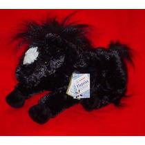 Caballo Negro De Peluche -aurora-