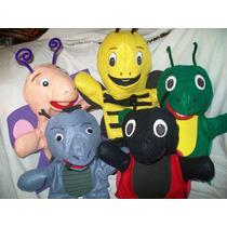 Gcg 1 Lote De 5 Titeres Insectos De Guante Fieltro
