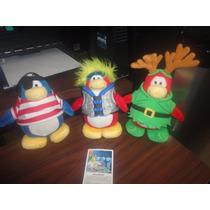 Lote De 3 Peluche Pinguino Club Penguin