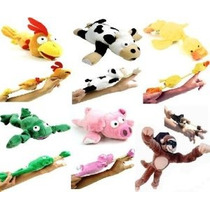 6pc Set De Slingshot Flingshot Vuelo Animales Con Sonido Mon