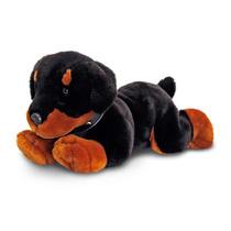 Perro De Juguete Suave - Keel Toys Grande 50cm Acostado Negr