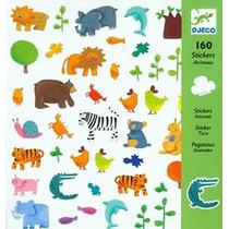 Djeco Pegatinas De Animales (160 Pc)
