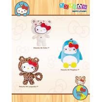 Hello Kitty Pingüino, Leopardo, Oso Peluche Sanrio 17cm C/u