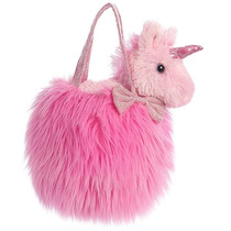 Unicornio Con Bolsa Juguetes Peluche Aurora Importado