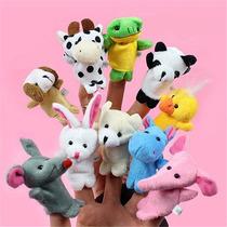 10 Marionetas Para Dedos Mini Animales Didácticos Originales
