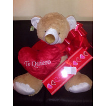 Oso Increible Con Chocolates Corazon Y Envoltura $1650