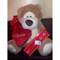 Oso Increible Con Chocolates Corazon Y Envoltura $3400.00