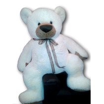 Oso De Peluche Gigante Largo Color Blanco 1.70 M