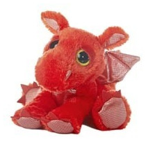 Dragon Dreamy Eyes Ojones Juguete Peluche Aurora Importado