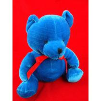 Osito Azul Tierno De Peluche