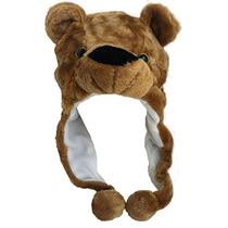 Plush Faux Fur Animal Critter Gorra - Soft Warm Winter Headw