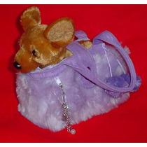 Perro Chihuahua De Peluche En Bolsa Llevalo En Tu Auto