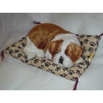 Bulldog Ingles Cachorro De Peluche Casi Real Y Ronca !!!