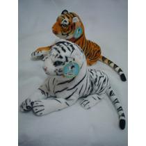 Tigre De Bengala Naranja Y Blanco De 60cms De Largo