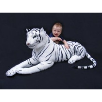 Gigante De Peluche De Tigre Animal Grande Tigre Blanco Felpa