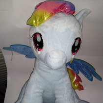 Excelente Peluche Mochila De My Little Pony (rainbow Dash)