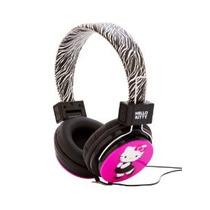 Hello Kitty Hk-zeb-wm Auriculares Con Diseño De La Cebra