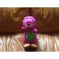 Barney Mide 35 Cm Se Ilumina Su Pancita Y Canta En Ingles