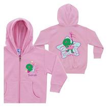 Personalizada Barney Baby Bop Danza Rosa Cremallera Con Capu