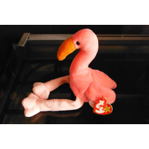 Peluche Flamingo Pinky Ty Beanie Babies Ave Rosa