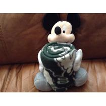 Mickey Mouse Nfl Jets Con Su Cobijita Unico Original