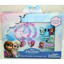 Set De Accesorios Mejores Amigas Frozen Anna Y Elsa! Nuevo