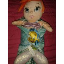 Bebe Ariel Sirenita Princesas Disney Store Babies Peluche