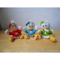 Tres Mini Peluches Hugo Paco Luis Sobrinos Pato Donald Dy216