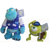 Muñecos De Peluche Monster Inc.university Sullivan Y Mike