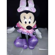 Peluche Minnie Mouse Su Moño Prende Con Sonido Disney Mimi