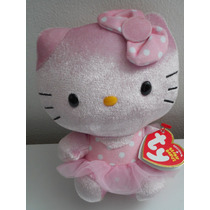 Hermoso Peluche De Hello Kitty Ty Rosa! Nueva
