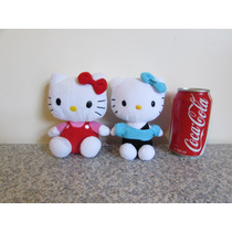 Hello Kitty Peluche Sanrio Red/blue