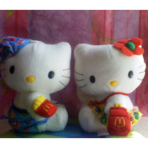 Hello Kitty Par De Peluches Vestidos Playeros