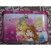 Alcancia Metalica C/llaves Y Candado D Princesas D Disney