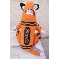 Peluche Orange Crayola Cat Naranja Gato Fun Toy By Nanco