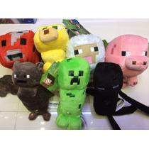 Figuras O Peluches De Minecraft Miden 16 Cm Aprox. !!!!