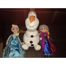 Set Frozen Disney Elsa, Ana, Olaff Peluches Disney Frozen