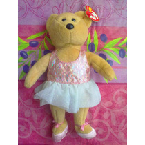 Ty Beanie Babies Peluche De Osita Bailarina Vestido Rosa