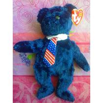 Osito Azul Con Corbata Pachonsito Marca Ty Beanie Babies