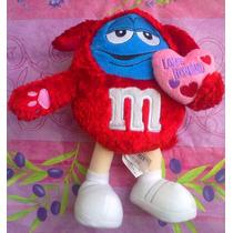 Mym Chocolate De Peluche Vestido De Conejo Rojo Con Corazon