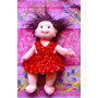 Ty Beanie Babies Peluche De Nina Con Vestido Rojo