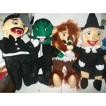 Gcg Lote De 4 Titeres Monstruos Dracula Lobo Franke Bruja
