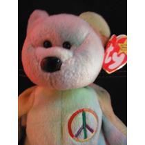 Peluche Oso Peace The Bear Ty Beanie Babies Toy Souvenir
