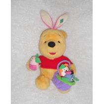 Disney! Peluche Winnie Pooh Vestido Conejo Pascua 37cm! Wp14