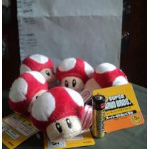 Llavero Peluche Hongo Rojo Personaje Mario Bros Original