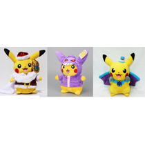Pikachu Peluche Pokemon Santa Gengar Vampiro Disfraz Cosplay