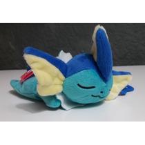 Vaporeon Pokémon De Peluche Kuttari - Dormido Y Acostado.