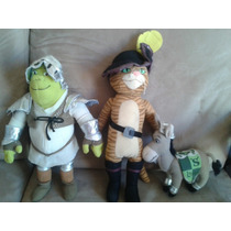 Peluches Shrek The Third / Shrek/burro/ Gato Con Botas