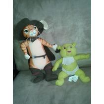 Shrek / Gato Con Botas De 33cm. Y Bebe Shrek/ Puss In Boots